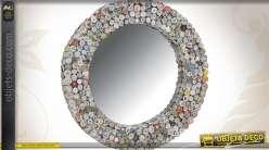 Miroir rond en papier recyclé
