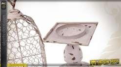 cage oiseaux grillag e sur pied de style r tro et campagnard. Black Bedroom Furniture Sets. Home Design Ideas