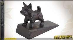 Cale-porte en fonte avec déco statuette de chien
