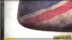 Tapis descente de lit microfibre drapeau anglais