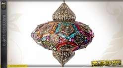 Grande lanterne suspension en métal de style marocain Ø 53 cm