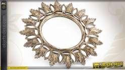 Miroir fen tre avec volets persiennes coloris blanc antique for Miroir imitation fenetre