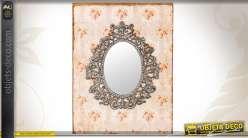 Miroir de style rétro et vintage tapisserie ancienne
