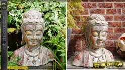 Tête de bouddha 52 cm effet vieilli