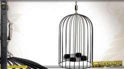 Lots de 3 cages oiseaux avec photophores for Porte 53 cm