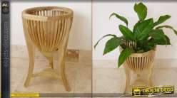 Support cache pot en bois de Mindi de style exotique