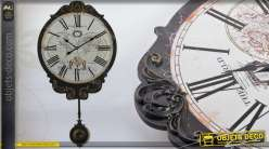 Horloge murale de style rétro avec grand balancier