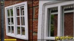 Miroir en fenêtre coloris blanc