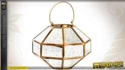 Lanterne octogonale dorée effet miroirs anciens