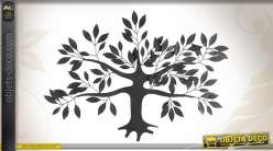 Décoration murale représentant un arbre coloris noir