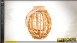 Lanterne en bois avec photophore
