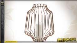 Photophore design en métal cuivré