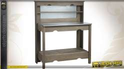 Table à plancha en épicéa et zinc