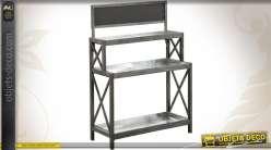 Console étagère de jardinage en bois et zinc
