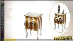 Chiffonnier bicolore en bois de style classique