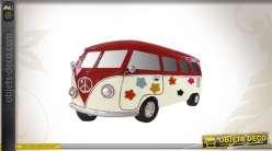 Déco murale combi VW hippie