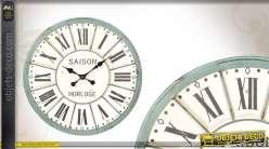 Horloge murale ronde coloris vintage