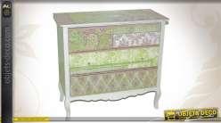 Commode 3 tiroirs en bois coloris divers