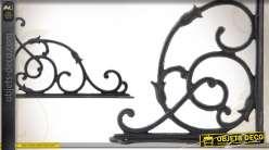 equerre murale noir antique style fer forg. Black Bedroom Furniture Sets. Home Design Ideas