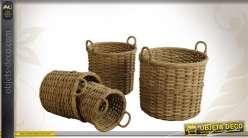 Série de 4 cache-pots en poelet