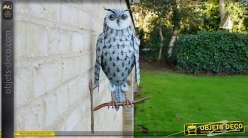 Décoration murale en métal : hibou perché 50 cm
