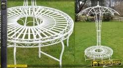 Banc de jardin circulaire structure en ombrelle (2,45 mètres)