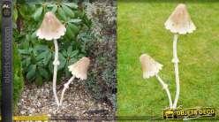 Champignons décoratifs géants en métal (60 cm)