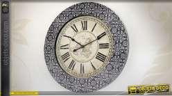 Horloge murale ronde avec encadrement style marocain Ø 78 cm