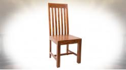 Chaise de style moderne en sheesham massif