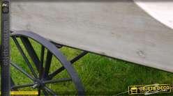 Chariot jardinière de style rétro en bois et métal 86 cm