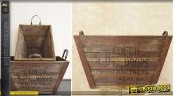 Série de 2 caisses en bois recyclé style rétro