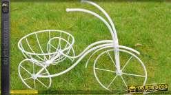 Tricycle jardinière coloris blanc antique