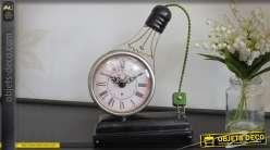 Horloge de table rétro en forme de grande ampoule à filament