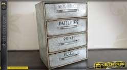 Petit meuble ancien de garage en métal style indus