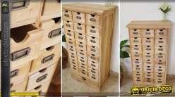 Meuble de métier à 25 tiroirs livré brut (meuble à finir)