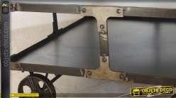 Table basse wagonnet carrée en métal style indus