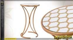 Sellette ronde style moderne finition dorée 66 cm