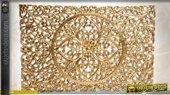 Ornementation en bois dor ajour motifs v g taux stylis s for Decoration murale doree