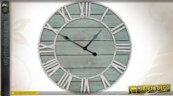 Grande horloge murale ronde Ø 70 cm coloris patinés