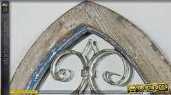 Miroir fen tre avec volets persiennes coloris blanc antique for Fenetre en ogive