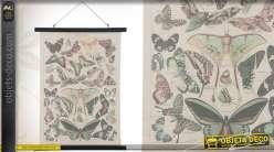 Décoration murale vintage avec papillons finition ancienne