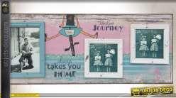 Cadre-photo déco avec illustration enfantine et coloris vieillis