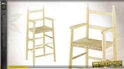 Chaise haute pour enfant en hêtre naturel et blanchi