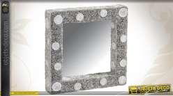 Miroir mural de forme carrée en papier recyclé