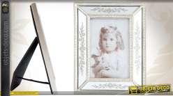 Cadre-photo à parclose coloris argent avec miroirs