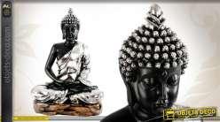 Grande statuette du Buddha en position samādhi-mudrā
