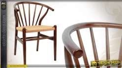 Chaise De Style Rustique En Bois Et Osier Clair
