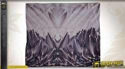 Plaid 140 x 160 cm motifs plumes