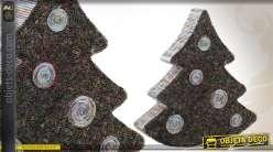 Sapin de Noël décoratif en papier recyclé