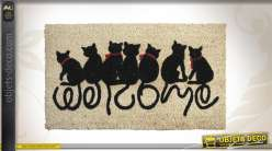 Paillasson en fibre de coco motifs chats